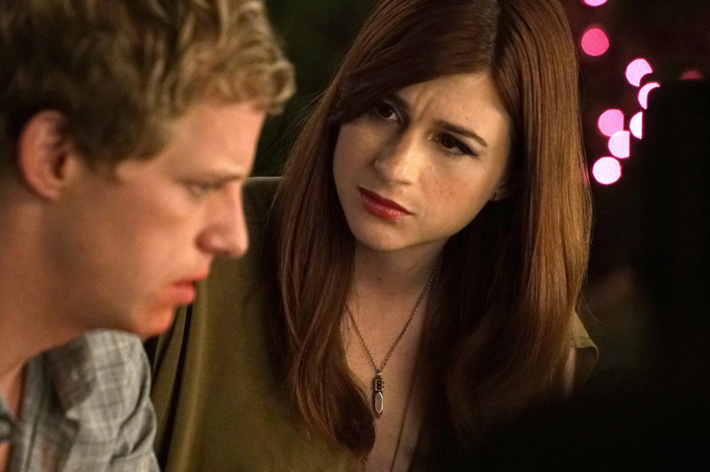 Chris Geere as Jimmy and Aya Cash as Gretchen in You're the Worst.