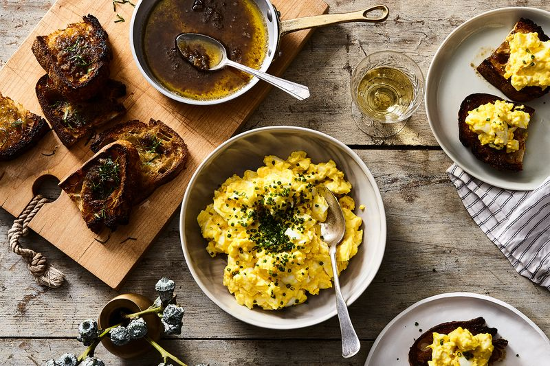 Nancy Silverton's Egg Salad with Bagna Cauda Toast