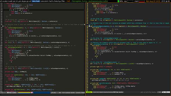 Oldest software rivalry: Emacs and Vi, two text editors used by programmers.
