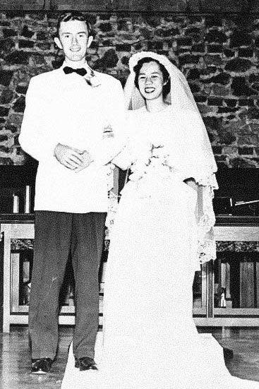 Hugh and Eleanor on their wedding day.