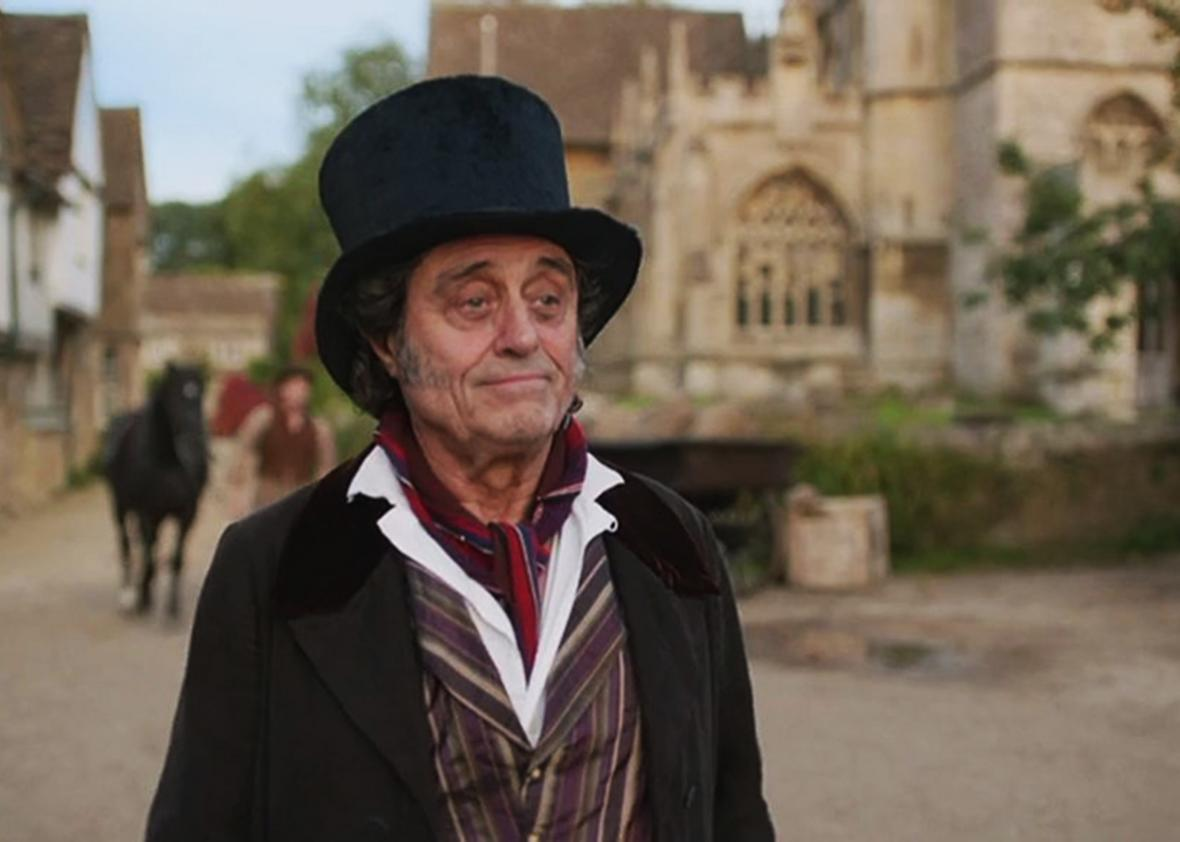 Ian McShane in Doctor Thorne.