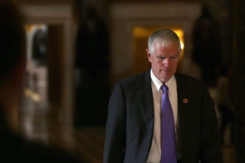 Rep. Mo Brooks walks through the capitol