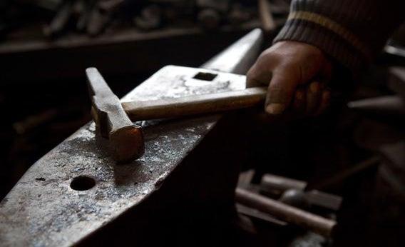 A Blacksmith's hammer.