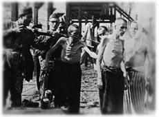 Inmates of Mittelgladblach Camp