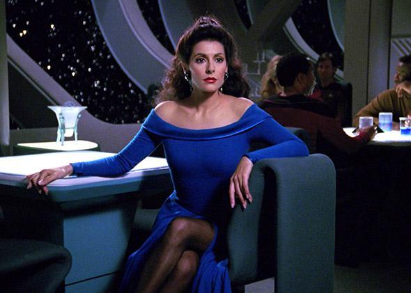 Marina Sirtis as Counselor Deanna Troi