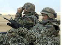 soldiers in camouflage