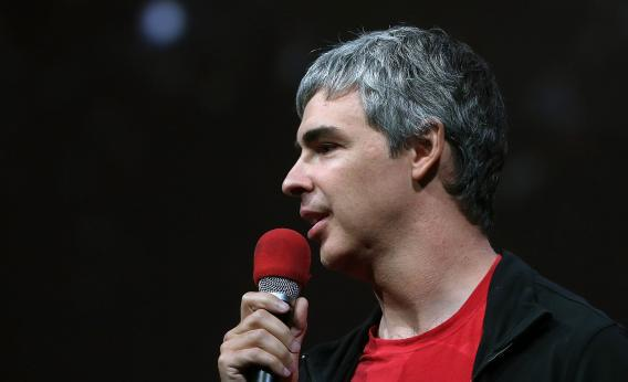 Larry Page, Google co-founder and CEO, speaks during the opening keynote at the Google I/O developers conference at the Moscone Center on May 15, 2013, in San Francisco.