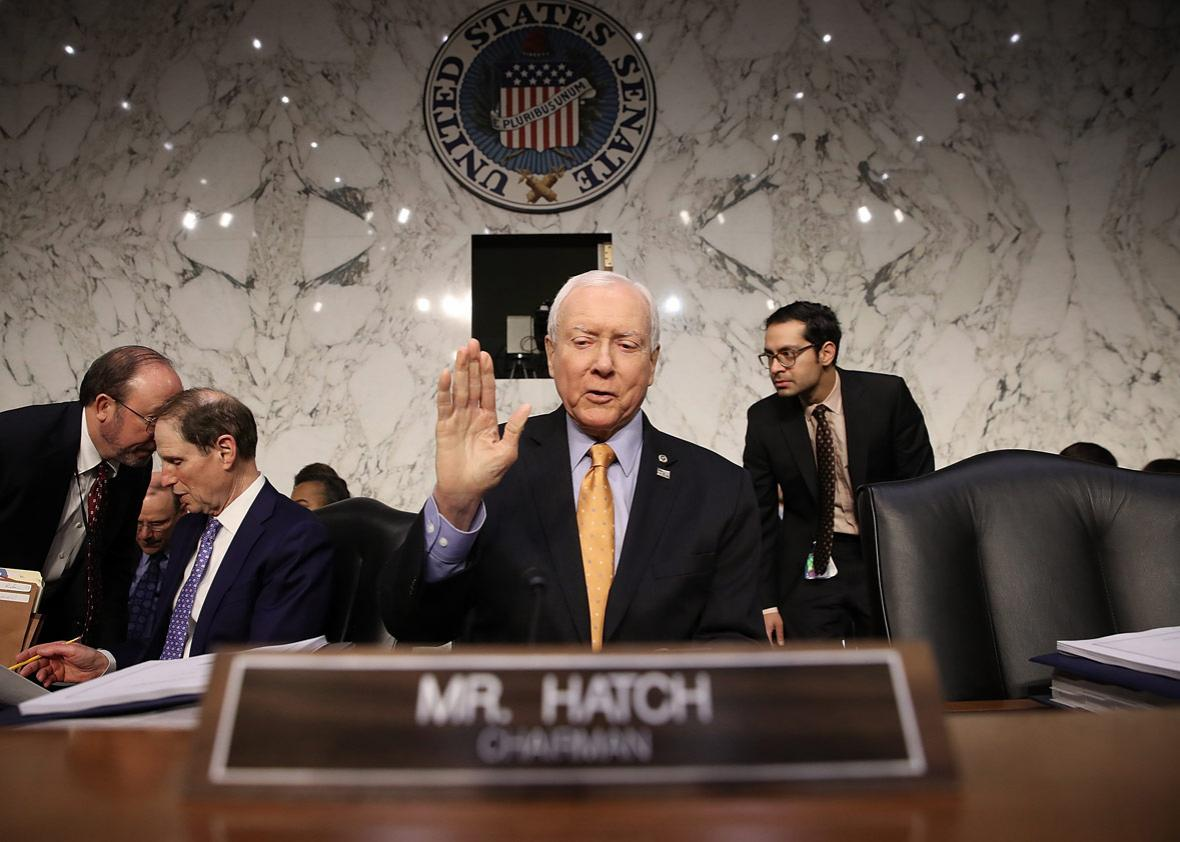 Senate Finance Committee chairman Orrin Hatch