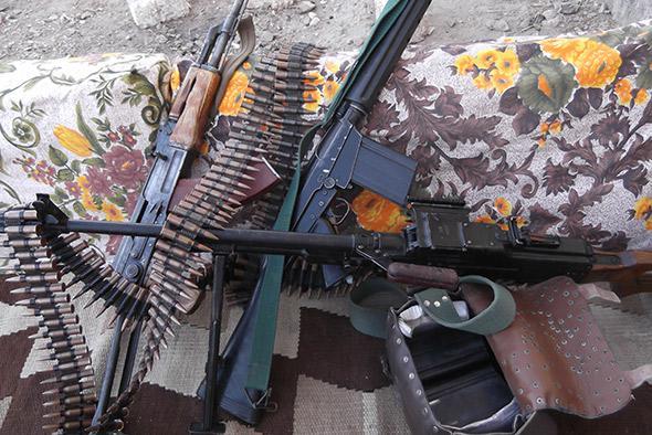 Guns and ammunition.