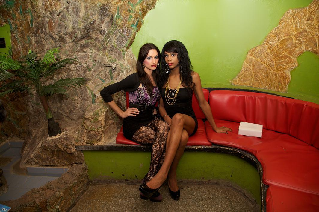 Two Women at the Las Vegas Club
