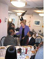 Claire McCaskill at Goody Goody Diner.
