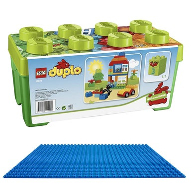 Duplo Play Set, LEGO Baseplate.