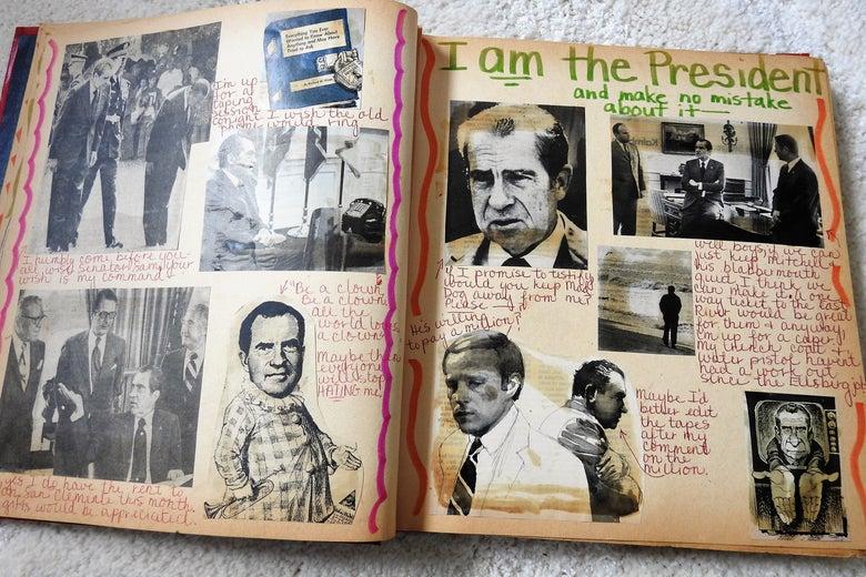 Watergate scrapbook, Nixon.