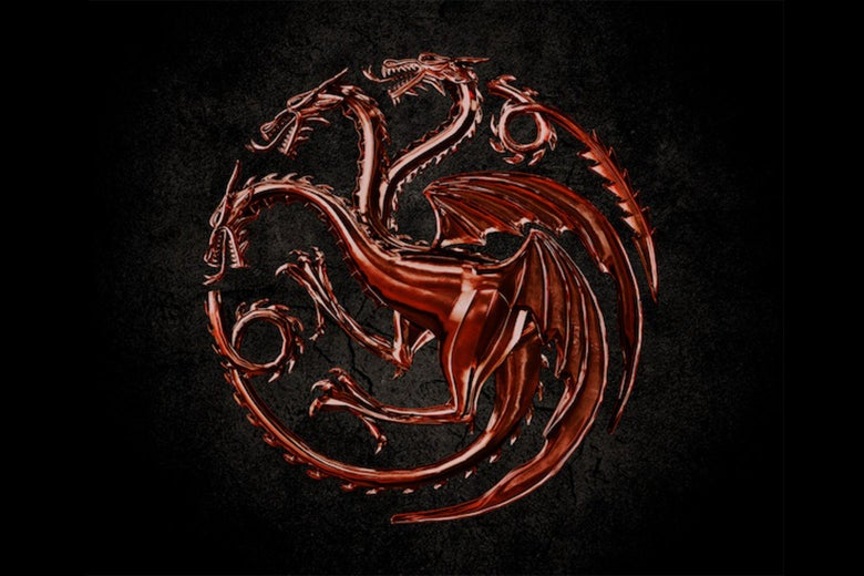 The seal of House Targaryen from Game of Thrones, a three-headed dragon.