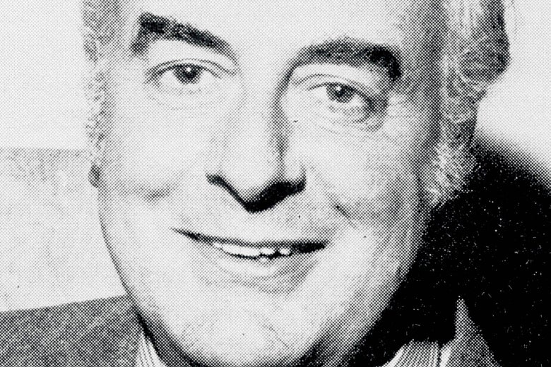 Black-and-white photo of Gough Whitlam.