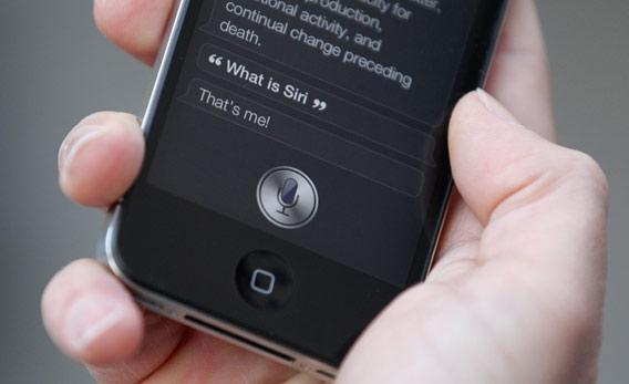 Siri on the iPhone 4S.