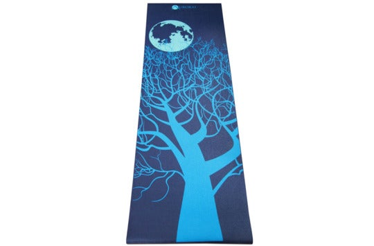 Aurorae yoga mat with tree design.