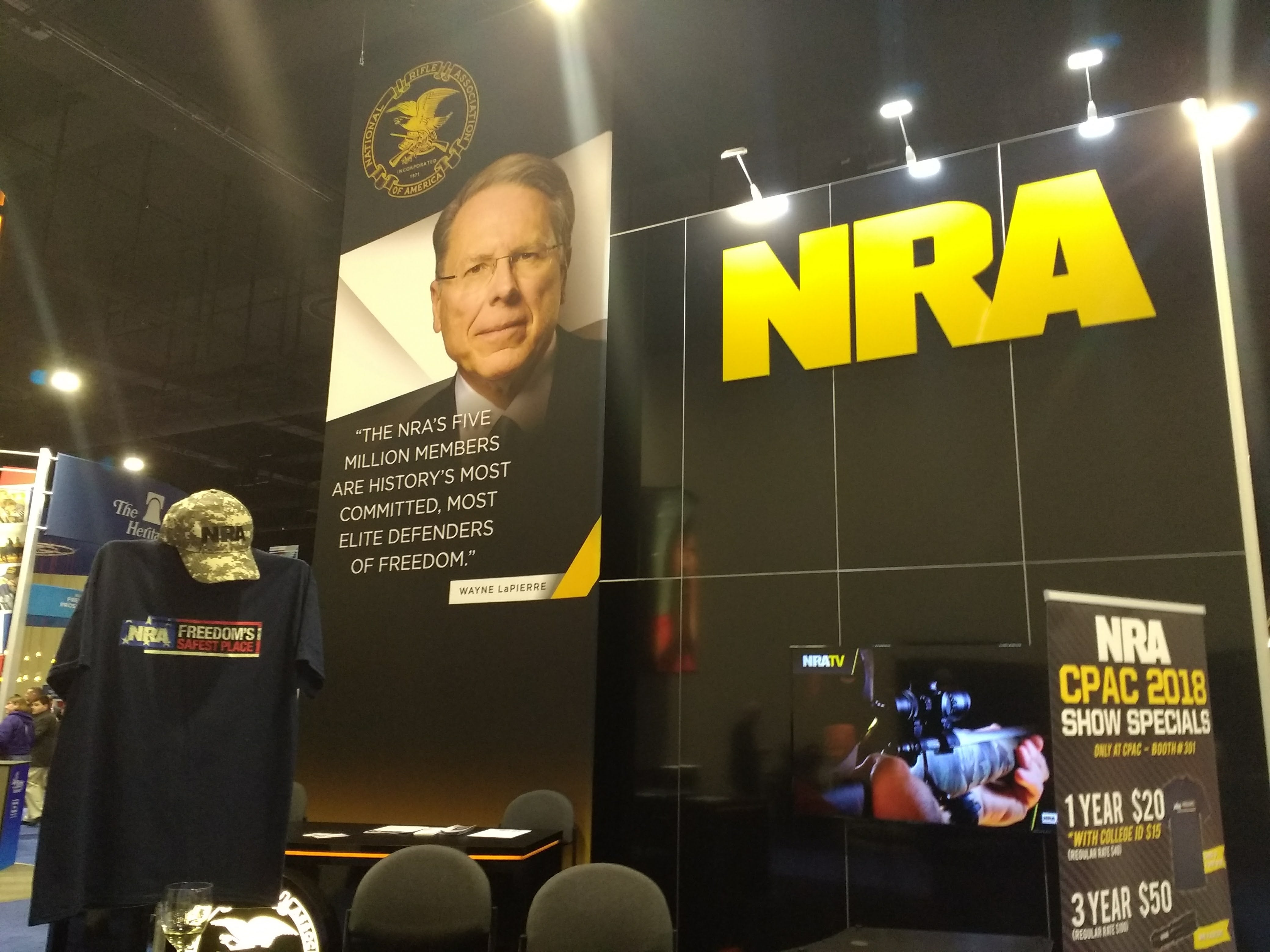 The NRA's massive and popular booth was back again this year.