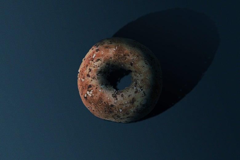 A bagel.