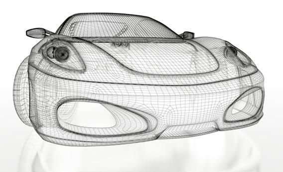A futuristic car design