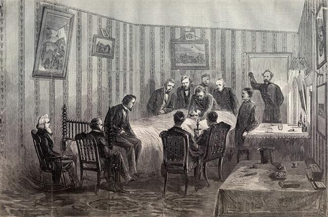 Lincoln deathbed