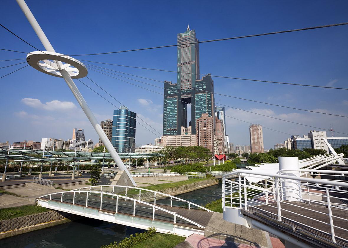 blue skies in taiwan.
