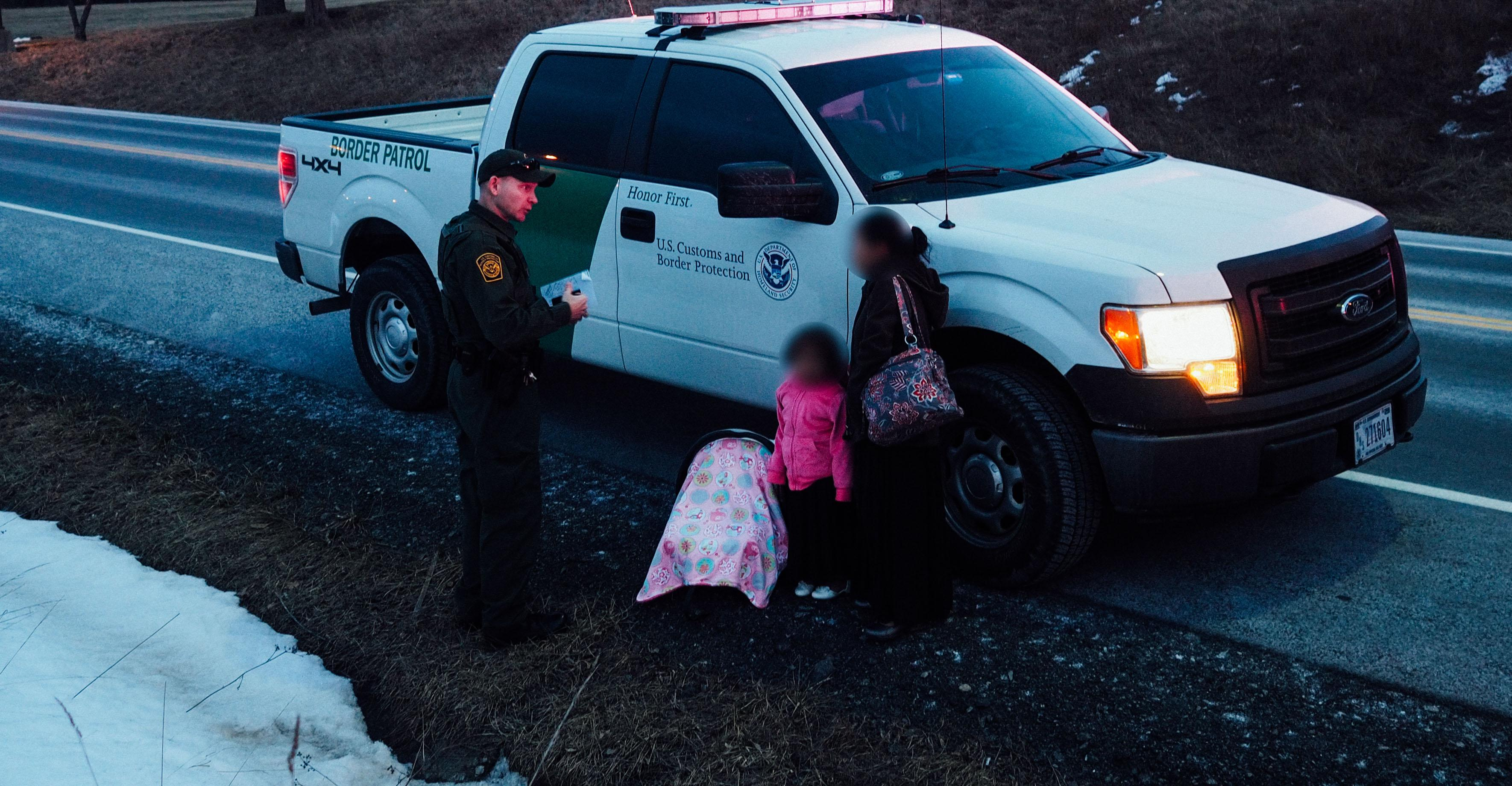 Border Patrol agents took two Guatemalan women and six children into custody after a traffic stop in Geneseo, New York, on March 23.