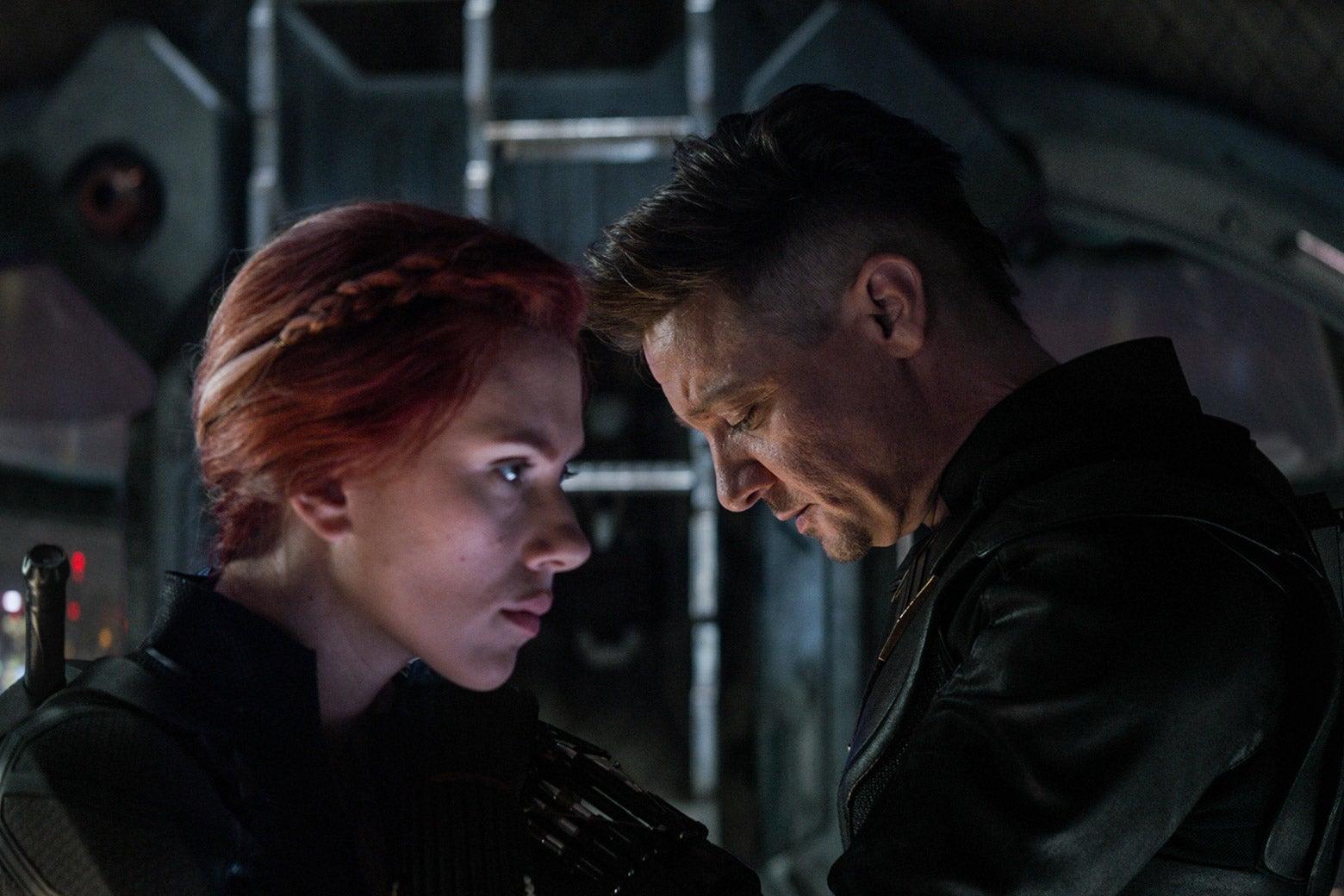 Black Widow and Hawkeye.