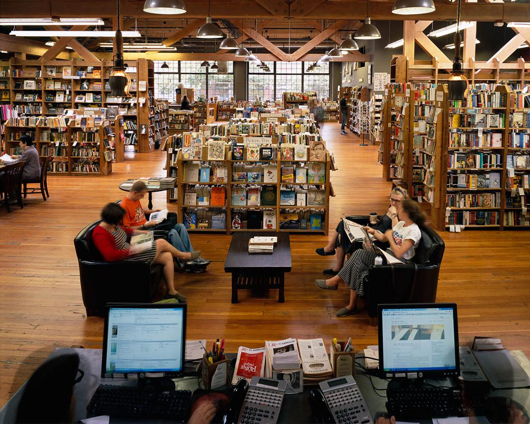 People understand that if they want to continue to have choices and things that they value available to them, they have to vote with their feet and their wallets. –Peter Aaron, owner, Elliott Bay Book Co., Seattle, WA