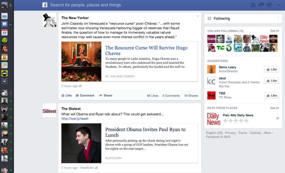 Facebook's new newsfeed