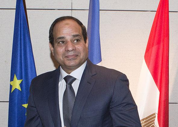 Egyptian President Abdel Fattah al-Sisi in Paris on November 27, 2014.