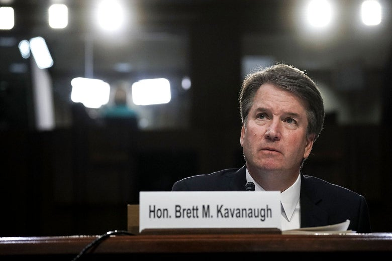 Brett Kavanaugh testifies before the Senate Judiciary Committee.