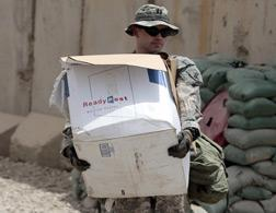 A U.S. soldier packing up. Click image to expand.