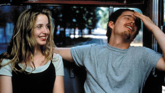 "Julie Delpy and Ethan Hawke in ""Before Sunrise"""
