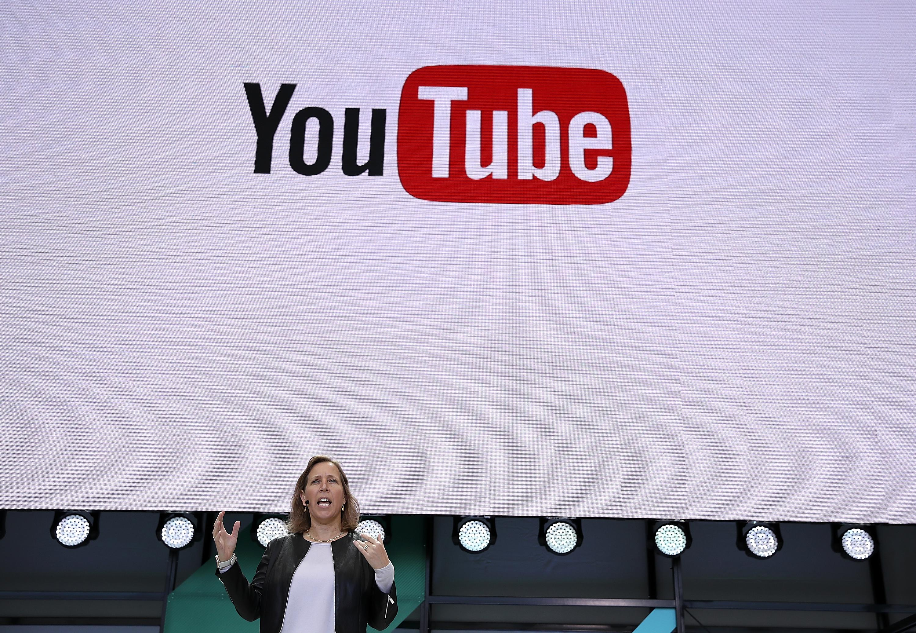 YouTube CEO Susan Wojcicki speaks during the opening keynote address at the Google I/O 2017 Conference.