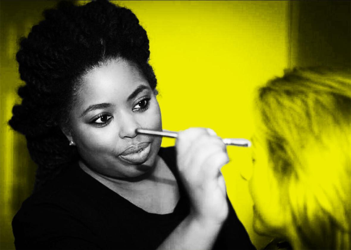 working make up artist.