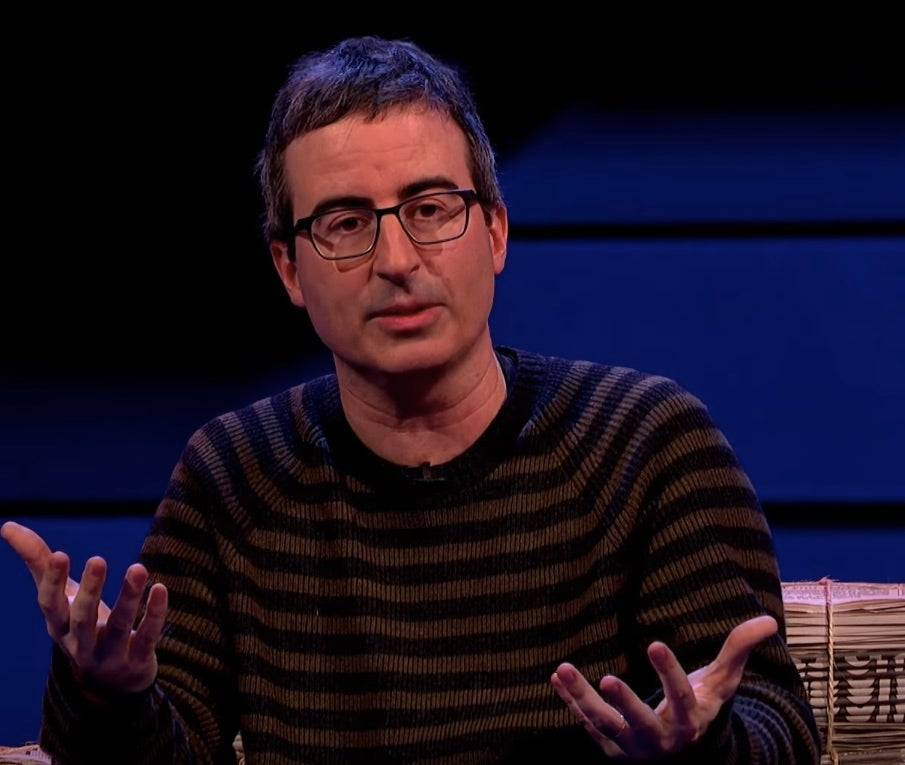 John Oliver being interviewed on The Russell Howard Hour