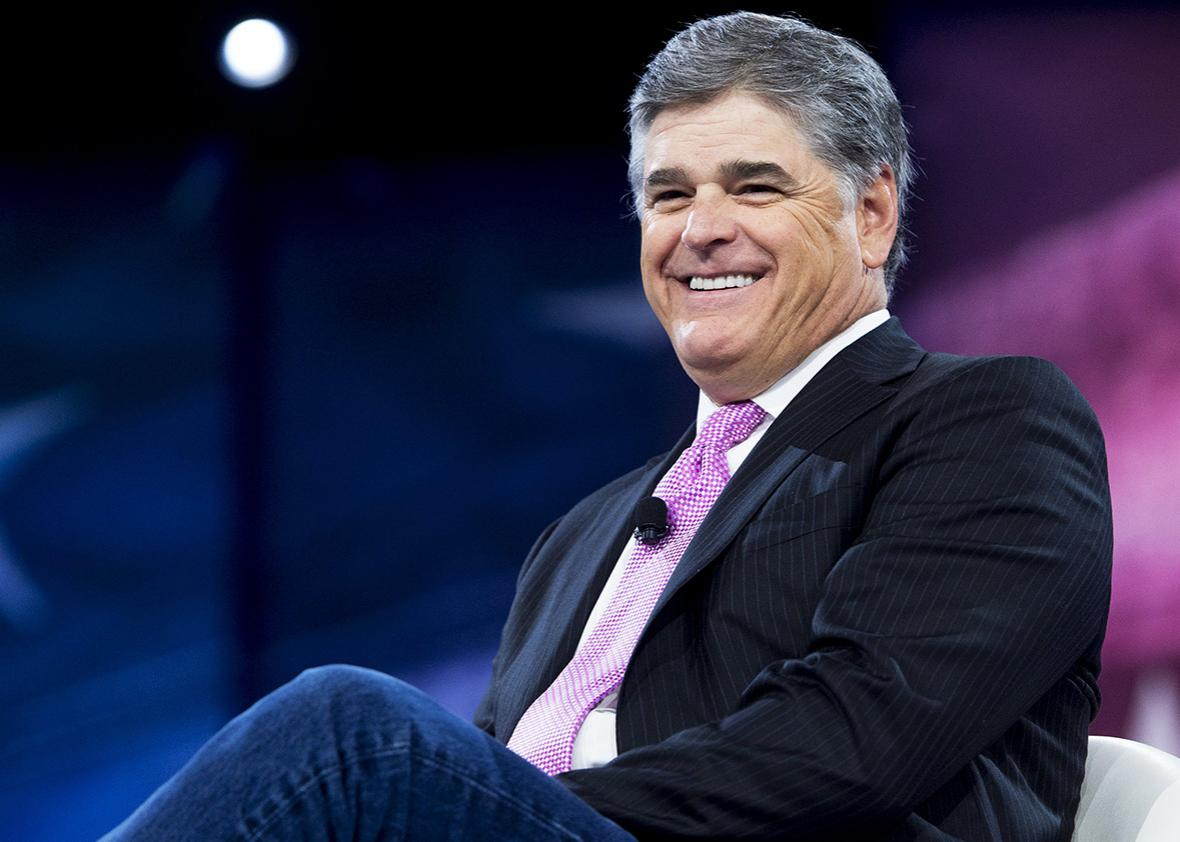 Fox News Host Sean Hannity speaks during the annual Conservative Political Action Conference 2016 at National Harbor in Oxon Hill, Maryland, outside Washington, March 4, 2016.