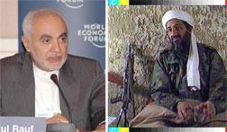 Imam Feisal Abdul Rauf (L) and  Osama Bin Laden (R). Click image to expand.