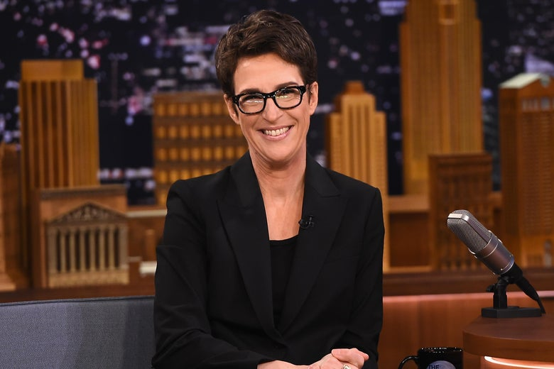 Rachel Maddow visits the Tonight Show Starring Jimmy Fallon at Rockefeller Center on March 15, 2017 in New York City.