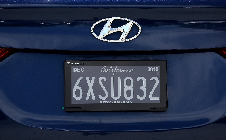 A license plate for a California car.