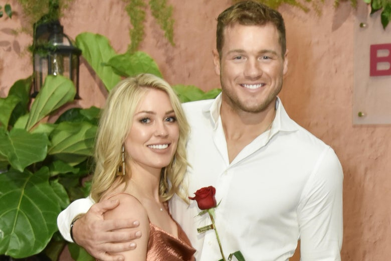 NEW YORK, NEW YORK - MAY 01: Cassie Randolph and Colton Underwood attend Tubi NewFront event on May 01, 2019 in New York City. (Photo by Eugene Gologursky/Getty Images)