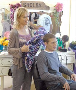 Kim Dickens as Shelby Saracen, Zach Gilford as Matt Saracen -- NBC Photo: Bill Records