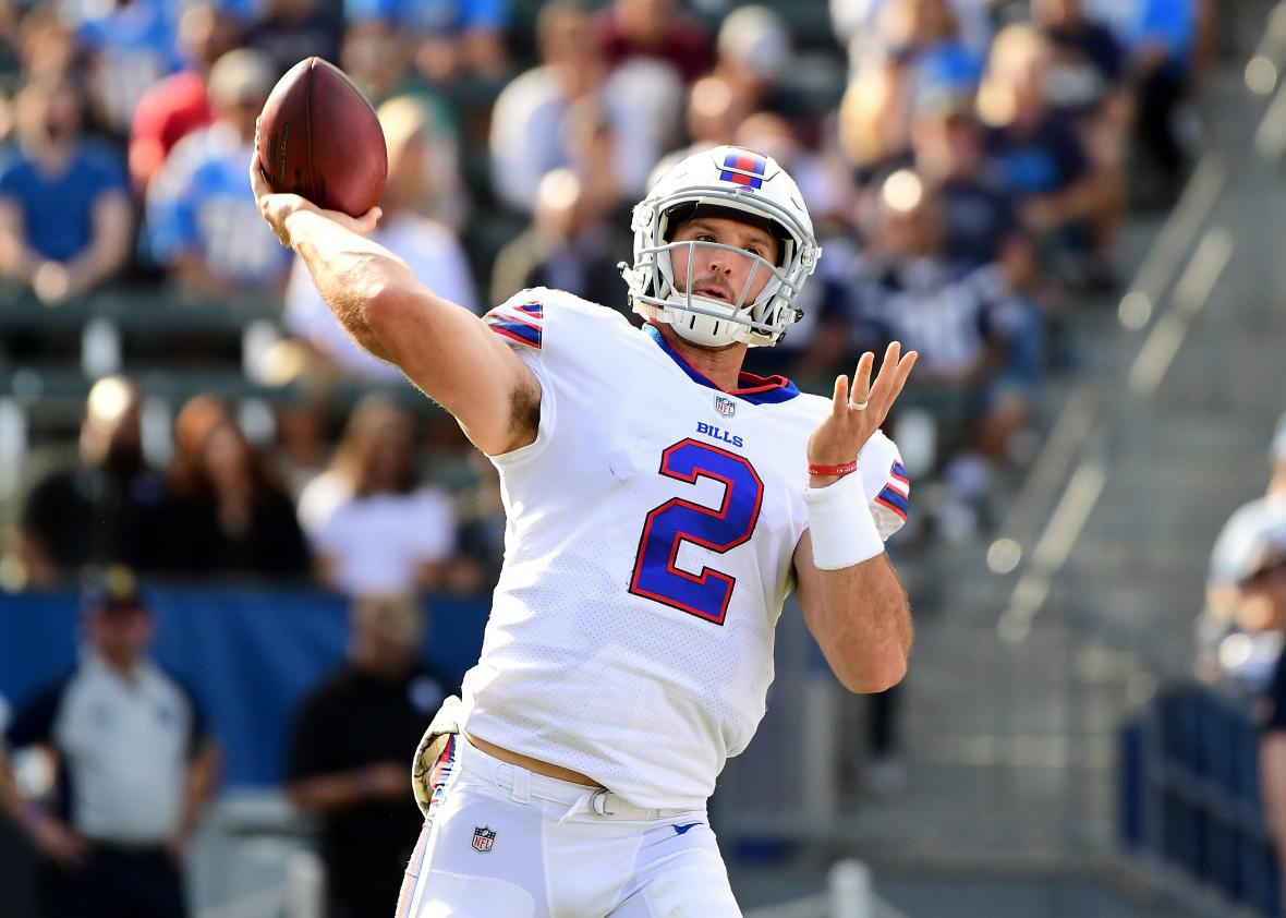san francisco 0e273 e06e7 Bills quarterback Nathan Peterman was very extremely bad.