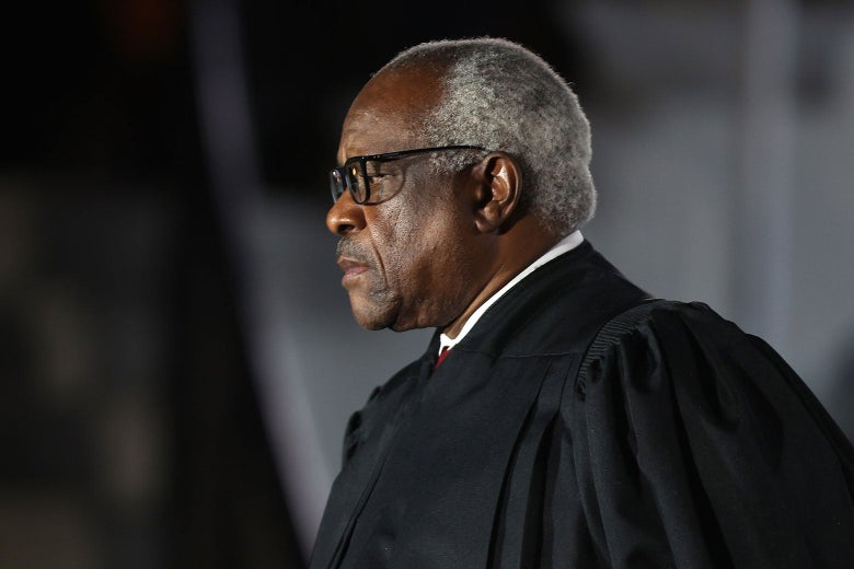 Clarence Thomas in judicial robes