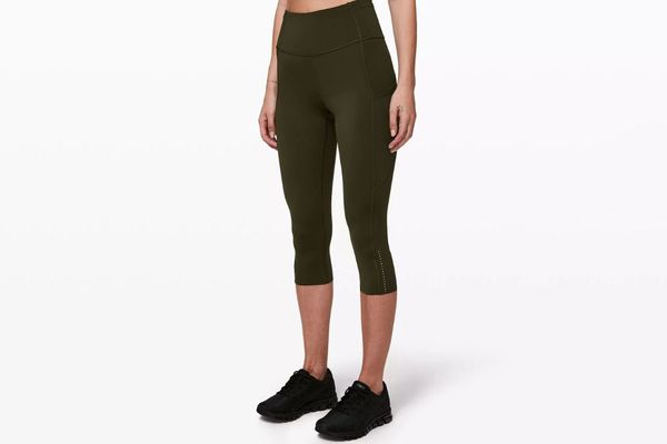 "Lululemon Fast and Free Crop II 19"" Nulux"