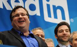 Linkedin founder Reid Garrett Hoffman and CEO Jeff Weiner.
