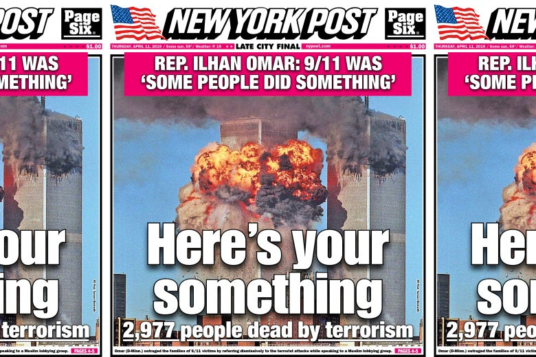 The April 11 cover of the New York Post.