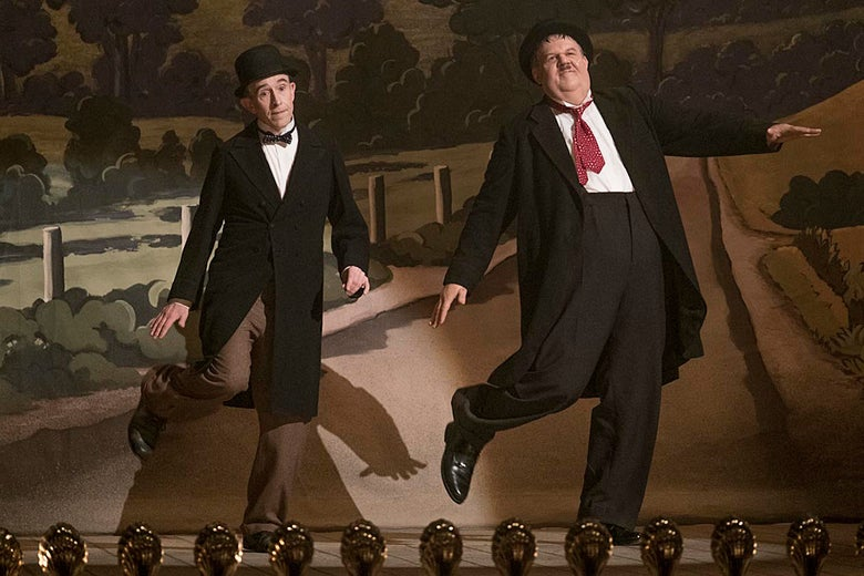Steve Coogan and John C. Reilly in Stan & Ollie.