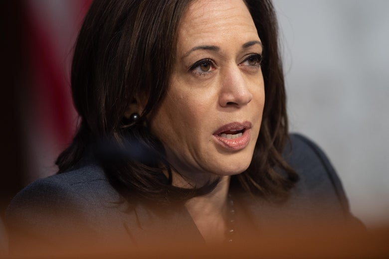 California Sen. Kamala Harris, asks witnesses about Worldwide Threats during a Senate Select Committee on Intelligence hearing on Tuesday in Washington.